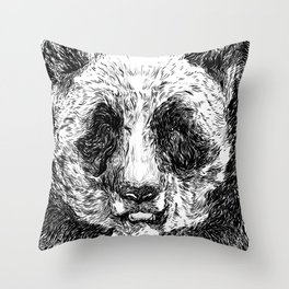 The Illustrated Panda Throw Pillow