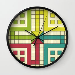 Ludo Game Wall Clock