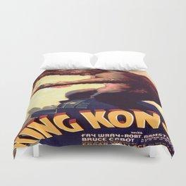 Vintage poster - King Kong Duvet Cover