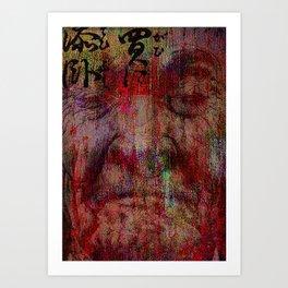 The last confrontation of miyamoto musashi Art Print