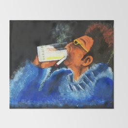 """""""HERE'S TO FEELIN' GOOD ALL THE TIME"""" Throw Blanket"""