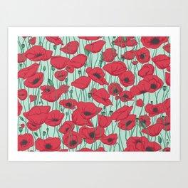 Poppies in August Art Print