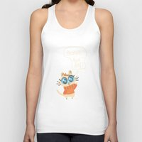bonjour Tank Tops featuring Bonjour by AronDraws