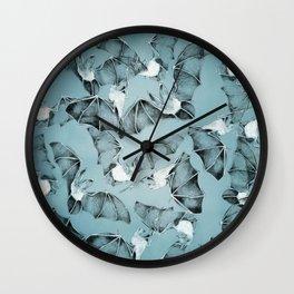 Halloween flying bats decor Wall Clock