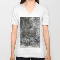 alphabet V-neck T-shirts featuring Alphabet by cafelab