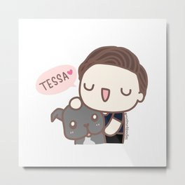 Tom & Tessa Metal Print