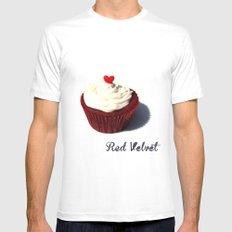 Red Velvet MEDIUM Mens Fitted Tee White