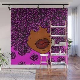 In Full Bloom. HOT PINK! Wall Mural