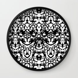 Rorschach madness Wall Clock