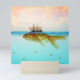 Goldfish Tall Ship Mini Art Print