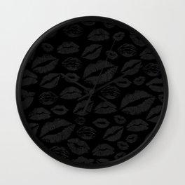 Dark Lips Wall Clock