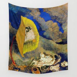 """Odilon Redon """"Vision sous-marine or Paysage sous-marin"""" Wall Tapestry"""