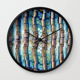 Abstract Architectural Pillars Wall Clock
