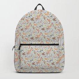 Woodland animal on blue Backpack