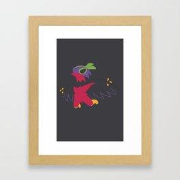 Shiny Hawlucha Framed Art Print