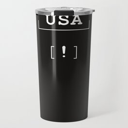 USA - typography meets ascii art Travel Mug