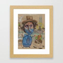 THE BLUEBERRY PROBLEM Framed Art Print