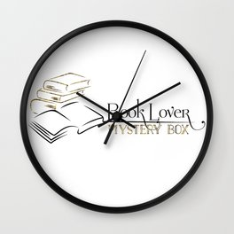 Book Lover Mystery Box Cushions Wall Clock