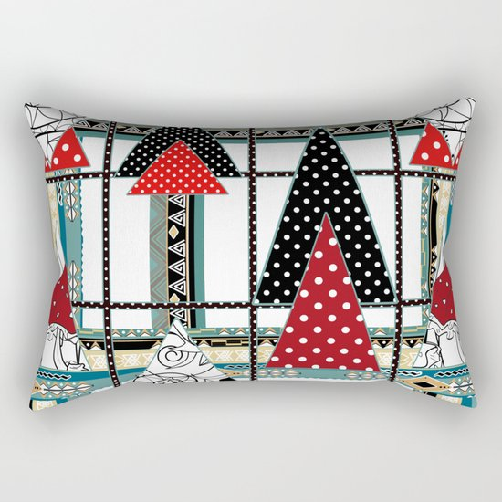 Art. Morning Fantasies . Patchwork Rectangular Pillow