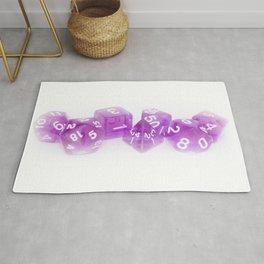 Purple Gaming Dice Rug