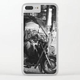 Sleepy Taxi Clear iPhone Case