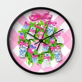 A Chinoiserie Christmas Wall Clock