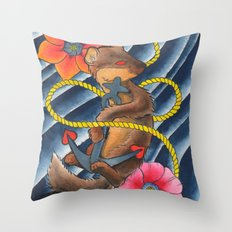 Don't Weasel Around Throw Pillow