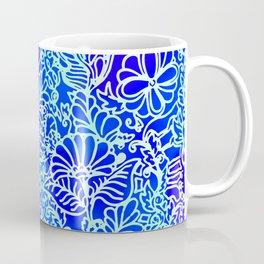 Jungle Garden, Blue Coffee Mug