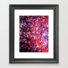 WRAPPED IN STARLIGHT Bold Colorful Abstract Acrylic Painting Galaxy Stars Pink Red Purple Ombre Sky Framed Art Print