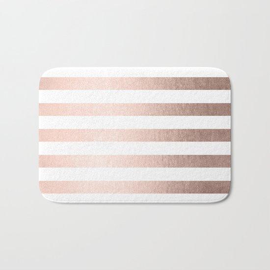 Simply Striped Moon Dust Bronze Bath Mat