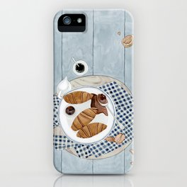 Croissants With Cherry Jam iPhone Case