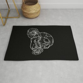 Skull and Flowers Rug