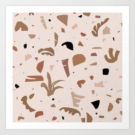 Modern Landscape / Abstract Neutral Shapes Art Print