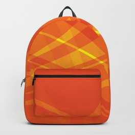 Orange Swirl Abstract Backpack