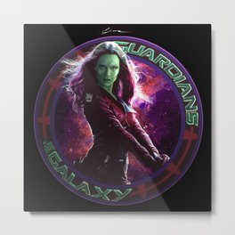 Gamora - Guardians Of The Galaxy Metal Print