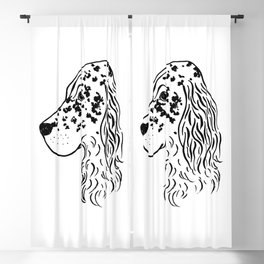English Setter (Black and White) Blackout Curtain