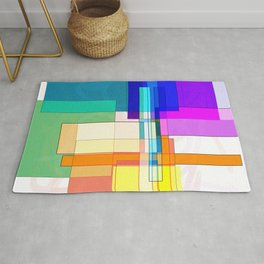 Squares combined no. 6 Rug