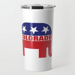 Colorado Republican Elephant Travel Mug
