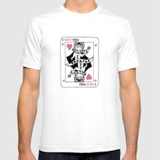 I Hate You / Poker Mens Fitted Tee White SMALL