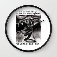 Cricket Bat Man Wall Clock