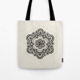 Floral Lace V Tote Bag