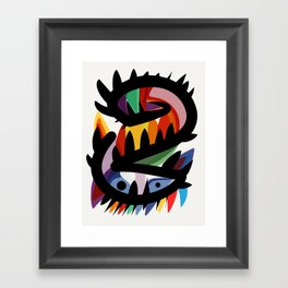 Depemiro Abstract Colorful Art Framed Art Print