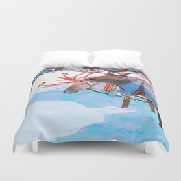 Reindeers and friends Duvet Cover
