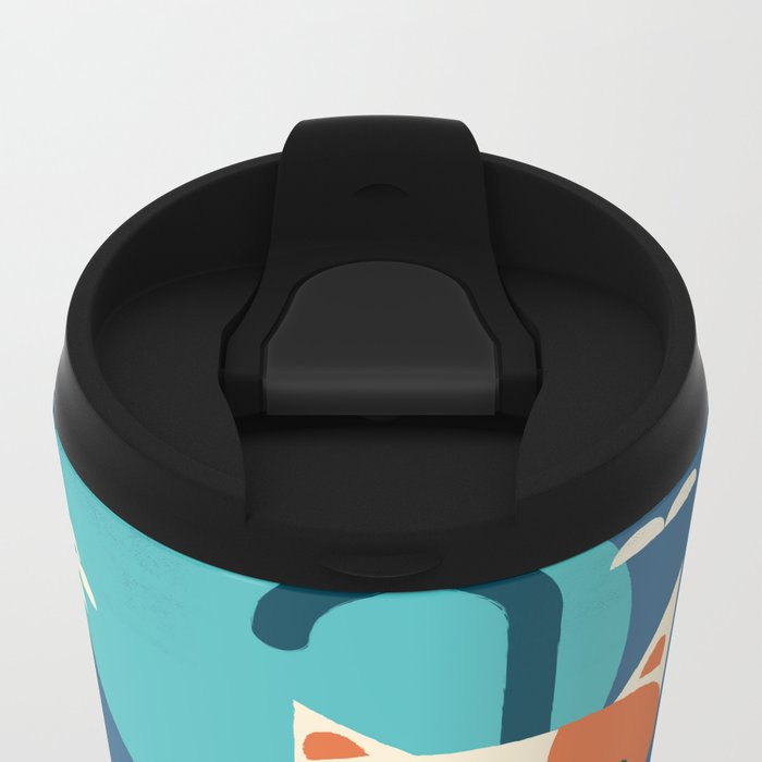 Umbrella Cat Metal Travel Mug