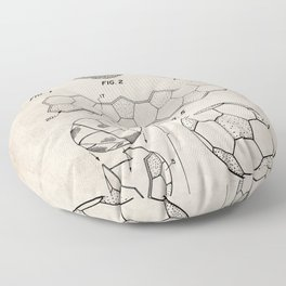 Soccer Ball Patent - Football Art - Antique Floor Pillow