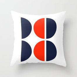 half eight Throw Pillow