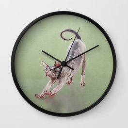 Sphynx kitten Wall Clock