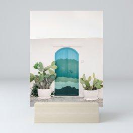 The Ostuni Door | Italy fine art travel photography | Colorful cityscape Mini Art Print