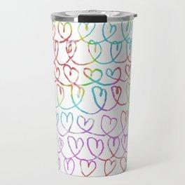 Heart Tie Dye Pattern Travel Mug