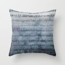 Almost Gray Mood Music Throw Pillow